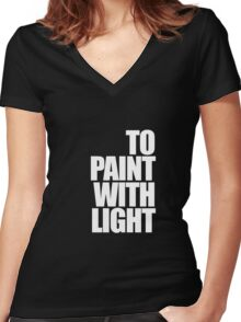 Paint with light Women's Fitted V-Neck T-Shirt
