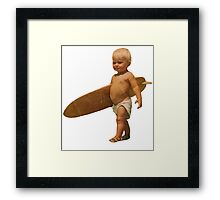 Baby Surfer Framed Print