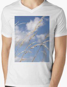 Tall grass and blue sky Mens V-Neck T-Shirt