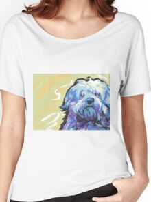 Havanese Dog Bright colorful pop dog art Women's Relaxed Fit T-Shirt