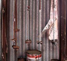 Inside the shearing shed by Ellenor Clarke