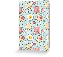 Kawaii Bacon & Egg Sandwich - Card Version Greeting Card