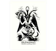 Baphomet - Knights Templar God Art Print