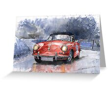 Porsche 356 B Roadster Greeting Card