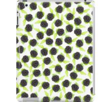 Black and green cute raspberries pattern iPad Case/Skin
