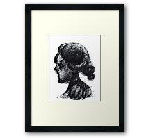 Ink Horned Fantasy Figure Framed Print