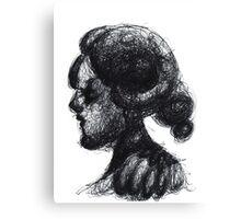 Ink Horned Fantasy Figure Canvas Print