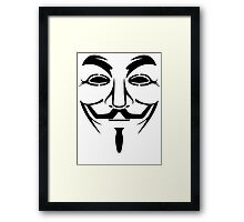 Anonymous - We Are Legion Framed Print