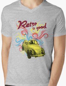 Retro 2 Mens V-Neck T-Shirt