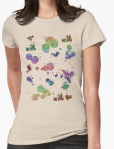 Splatter Womens Fitted T-Shirt