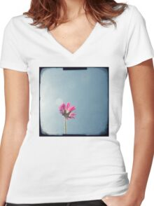 Silver lining Women's Fitted V-Neck T-Shirt