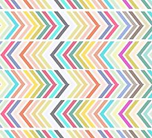 Girly pink purple teal white chevron pattern by Maria Fernandes