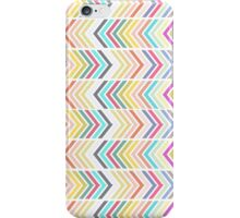 Girly pink purple teal white chevron pattern iPhone Case/Skin