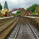 Foot Bridge at Goathland Station by Trevor Kersley