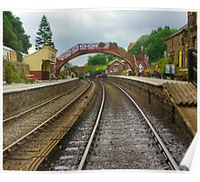 Foot Bridge at Goathland Station Poster