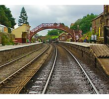 Foot Bridge at Goathland Station Photographic Print
