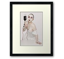 A Very Hungry Damsel Framed Print
