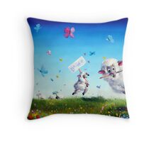 Signs of Life Throw Pillow