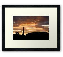 west end sunset Framed Print
