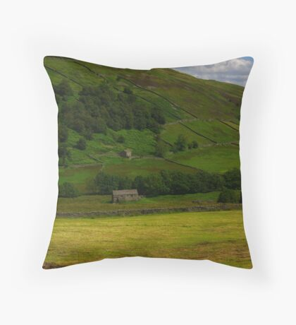 Hillside Barns - Swaledale,North Yorks. Throw Pillow