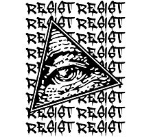 Resist The New World Order Photographic Print