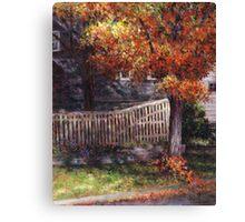 Dappled Fence Canvas Print