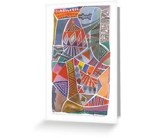 African Abstract Greeting Card