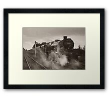 'Leander' at Hellifield station Framed Print