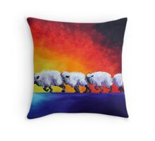 Voting for Change Throw Pillow