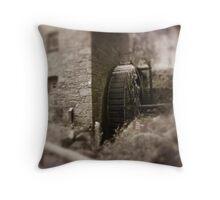 Old mill Wheel Throw Pillow