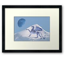 Shouting the blue moon Framed Print