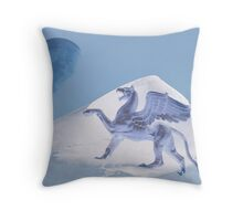 Shouting the blue moon Throw Pillow