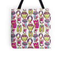 Neon Owls Tote Bag
