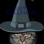 Happy Halloween Kitty Card by Jonice