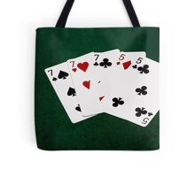 Poker Hands - Full House - Seven and Five Tote Bag