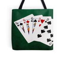 Poker Hands - Full House - Queen and Nine Tote Bag