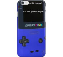 Gameboy color Birthday Present iPhone Case/Skin