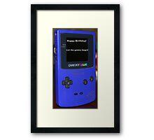 Gameboy color Birthday Present Framed Print