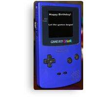 Gameboy color Birthday Present Canvas Print