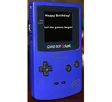 Gameboy color Birthday Present Photographic Print