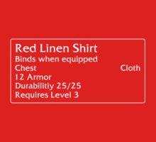 Red Linen Shirt by DPSmachine