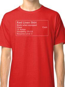 Red Linen Shirt Classic T-Shirt