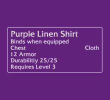 Purple Linen Shirt by DPSmachine