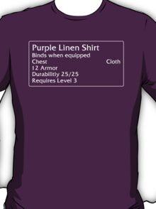 Purple Linen Shirt T-Shirt