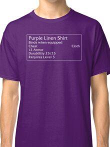 Purple Linen Shirt Classic T-Shirt