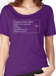 Purple Linen Shirt Women's Relaxed Fit T-Shirt