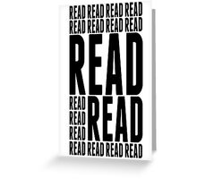 Book Reader Tshirt, Posters and Mobile Covers Greeting Card