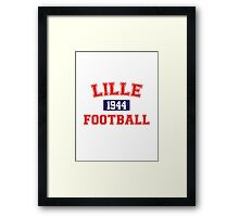 Lille Football Athletic College Style 1 Gray Framed Print