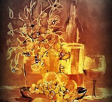 Vintage wine'... by Valerie Anne Kelly