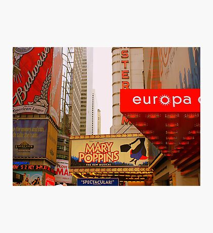 The Lights are Bright on Broadway (resized) Photographic Print